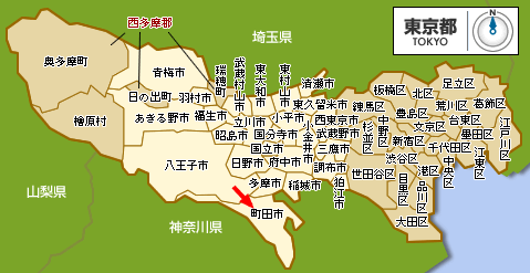 町田市はここにあります